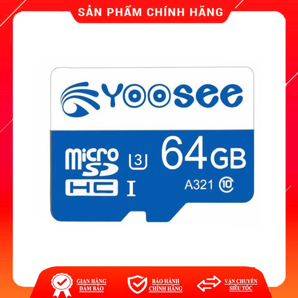 [Nhập ELJAN11 giảm 10%, tối đa 200k, đơn từ 99k]Thẻ nhớ 32Gb/ 64Gb YOOSEE U3 Class10 tốc độ cao chuyên...