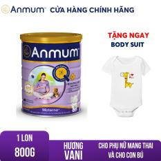 [GIẢM 25 ĐƠN 449TR]Sữa bột Anmum Materna hương Vani 800g dành riêng cho phụ nữ mang thai và cho con bú Tặng body suit