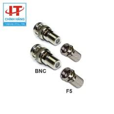 Bộ Jack BNC và F5 dùng để kết nối camera gồm 2 Đầu BNC và 2 Đầu F5