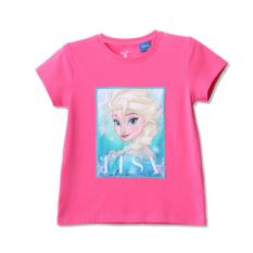 Áo thun Elsa cổ tròn ngắn tay bé gái Rabity 5122