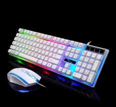 Combo bàn phím và chuột giả cơ G21, Bộ bàn phím giả cơ và chuột game dành cho game thủ G21 led đa màu