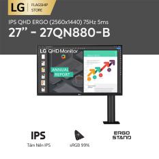 [TRẢ GÓP 0%] Màn hình máy tính LG IPS QHD ERGO (2560×1440) 75Hz 5ms 27 inches l 27QN880-B l HÀNG CHÍNH HÃNG