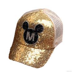 Mũ Nón Lưỡi Trai Mickey Đính Hạt Lấp Lánh Đáng Yêu Cho Bé