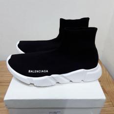 Giày Balenciaga Đen Trắng Cổ Cao Giá Rẻ, Size 41