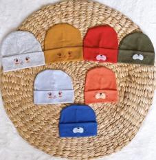 Mũ len tăm cho bé sơ sinh trai và gái 0-12 tháng tuổi
