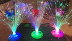 Chậu Hoa hồng đèn LED 7 màu – cao 33.5cm