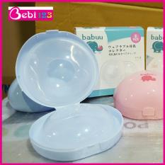 Hộp 2 dụng cụ hứng sữa Babuu Nhật Bản tiện lợi cho mẹ