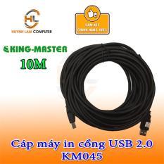 Cáp máy in 10m cổng USB 2.0 Kingmaster KM045 chống nhiễu – Hãng phân phối