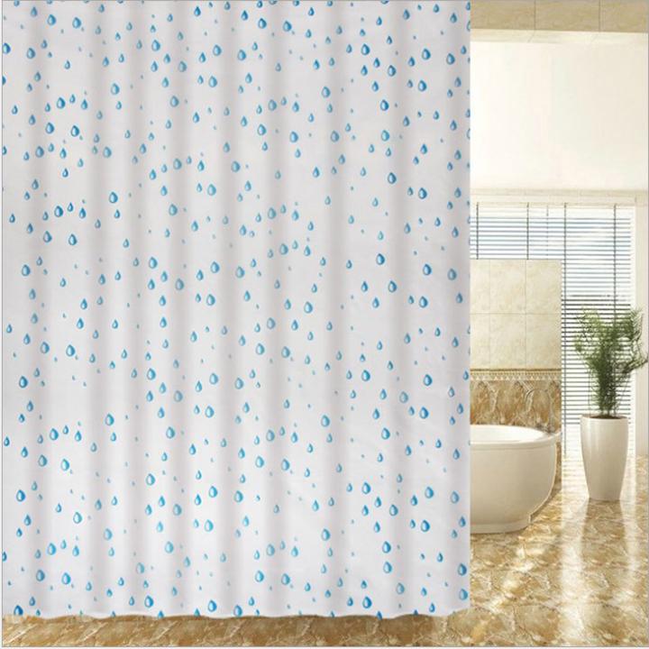Rèm cửa nhà tắm họa tiết bắt mắt UKS1761