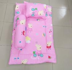 Bộ Nệm Gối Dành Cho Bé – Bộ Nệm kèm Gối Vải Cotton Kích Thước 65cmx115cm. Bộ Nệm Cho Bé Đi Học
