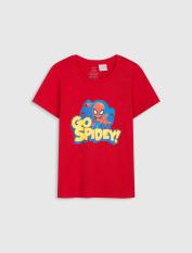 Áo phông bé trai cotton US in hình người nhện kèm chữ CANIFA 2TS20S001