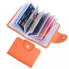 Ví Da Đựng Thẻ ATM, Card Visit, CMND 24 Ngăn, Da PU mềm, 10.3cm x 7,5cm dạng cầm tay tiện lợi