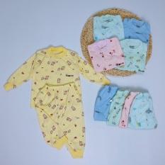 Bộ quần áo dài tay Cotton nỉ Ava mẫu mới mềm mịn cho bé trai, bé gái (HBB1280)