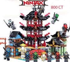 Lego Ninjago Rồng, Quái thú, Phi thuyền, Hắc Mã 7051, Đền Lego Ninjago chuỗi Lego Giá Rẻ [Siêu Hot 2020]