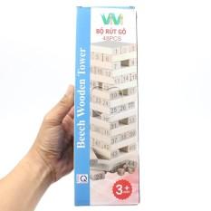 (Freeship) Bộ rút gỗ ViViToys 48 thanh kèm 2 súc sắc loại to – Xếp hình domino xả Stress