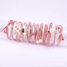Set 12 dây buộc tóc dây chun nịt cột tóc nữ Hàn Quốc dễ thương cho bé gái nhiều mẫu VHT1651