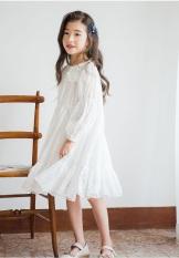 Váy công chúa ren hoa trắng V36 cho bé gái