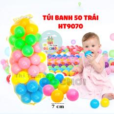 Bóng cho bé túi lưới 50 bóng 7cm, banh đồ chơi cho bé hàng Việt Nam chất lượng cao HT9070