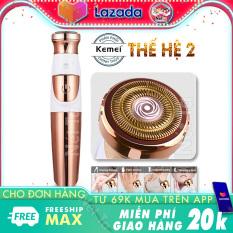 Máy tẩy lông toàn thân không đau thế hệ mới Kemei KM-577 cạo lông mặt không gây kích ứng, tẩy lông nách, tay, chân, vùng bikini đa năng