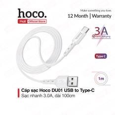 Cáp sạc Hoco DU01 USB to Micro/Lightning/Type-C sạc nhanh 2.4A/3A dài 100cm