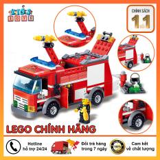 Đồ chơi lego, Lego city Xe cứu hỏa, Xe cảnh sát, Xe xây dựng, Tặng kèm sách hướng dẫn lắp ráp, Lego swat chất liệu nhựa ABS an toàn cho bé