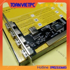 Card pci to 4port USB | card pci ra 4 cổng usb