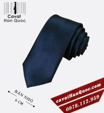 Cà vạt bản nhỏ xanh than đậm cao cấp