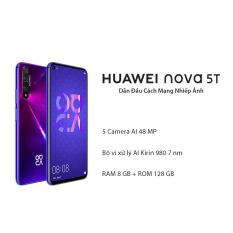 Điện thoại Huawei Nova 5T (8GB/128GB) 5 Camera AI 48MP, Chơi game mượt, sạc siêu nhanh, pin trâu [Hàng Chính Hãng]