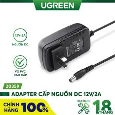 Adapter cấp nguồn DC 12V/2A UGREEN 20359 đạt chuẩn 3C dài 1.5m dùng cho Router Modem Wifi TV Box Switch – Hàng phân phối chính hãng – Bảo hành 18 tháng