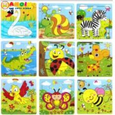 Combo 20 tranh ghép 9 miếng ngẫu nhiên các hình khác nhau cho bé
