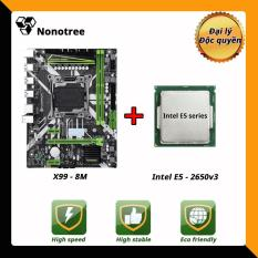 Combo Bo mạch chủ HUANANZHI X99 8M + CPU E5 2650v3 LGA2011-3, DDR4 non-ECC ram Nonotree bảo hành 3 năm, Game sống, để mở nhiệm vụ, studio