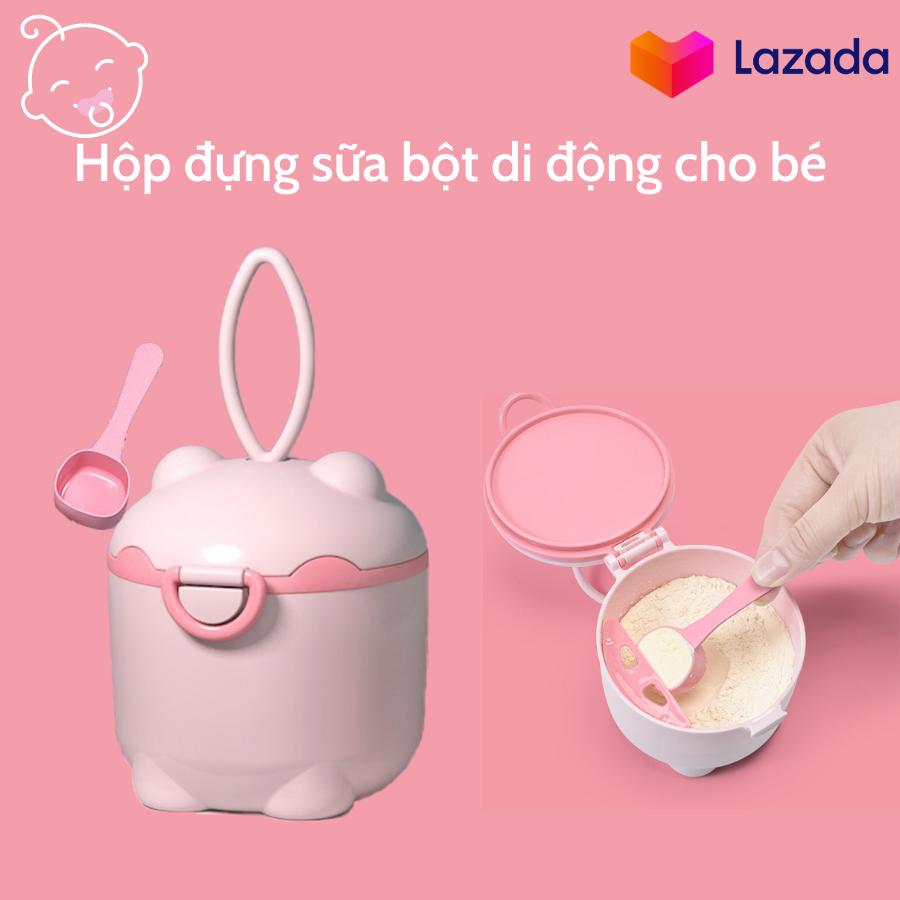 Hộp đựng sữa bột di động cho bé/ Hộp bảo quản sữa bột/ Hộp đựng thức ăn nhẹ di động cho trẻ sơ sinh