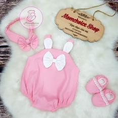 Body thỏ hồng cho bé gái – Set body bộ 3 chi tiết cho bé yêu