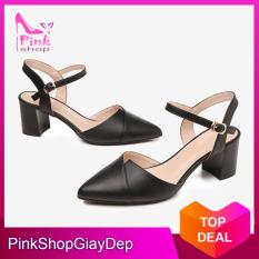 (Có mã miễn ship) Giày nữ, giày cao gót 5 phân bít mũi PinkShopGiayDep