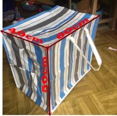 Loại Dày – Túi bạt kẻ mã lai đựng quần áo, chăn màn, may chắc, xài bền