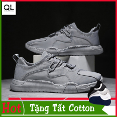 Giày Thể Thao Sneaker Nam, Vải Thoáng Khí, Đế Cao Su Nguyên Khối Chắc Chắn- QL-JD888+ Tặng Tất Cotton