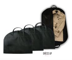 Combo 2 Túi Bọc Áo Vest, Áo Khoác, Bộ Suit Có Quai Xách – Vải Không Dệt , Chống Bụi, Chống Nước, Màu Đen (size 60cmx100cm)
