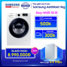 Máy giặt cửa trước Samsung AddWash 9kg – WW90K54E0UW