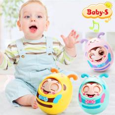 Lật đật cho bé hình chú ong chớp mắt ngộ nghĩnh có tiếng chuông vui tai cho bé trai và bé gái Baby-S – SDC042