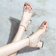 giày cao gót quai trong gót chéo 5p