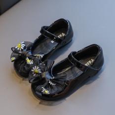 Giày hài tập đi cho bé gái đế mềm êm chân có kèn đính nơ dễ thương cho bé 0-2 tuổi – NG1