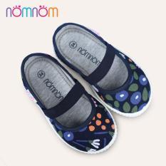 Giày búp bê cho bé gái quai chun NomNom EPG1913 màu xanh