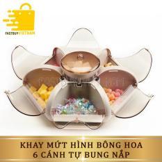 Khay mứt tết, hộp đựng đựng bánh kẹo hình cánh hoa tự bung , thiết kế độc đáo, chất liệu an toàn cho sức khỏe