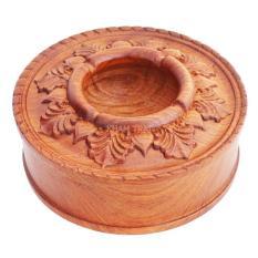 Gạt tàn bằng gỗ Hương tiện tròn cao cấp
