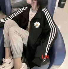 Áo Khoác Hoodie, Cardigan, Jacket Form Rộng Nút Cài Unisex Chất Liệu Thun NỈ Ngoại In Hoa Cúc BY6