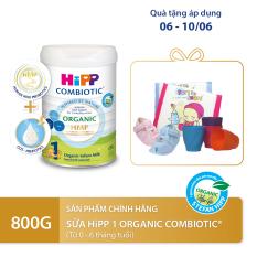 [QUÀ TẶNG HOT] Sữa bột dinh dưỡng công thức HiPP 1 Organic Combiotic chất lượng hữu cơ tự nhiên an toàn, hỗ trợ, tăng cường sức khoẻ hệ miễn dịch, bổ sung omega 3,6 (DHA&ARA) dành cho trẻ dưới 6 tháng tuổi 800g