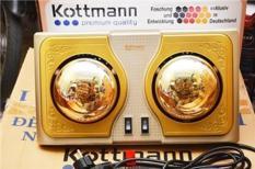 Đèn Sưởi Nhà Tắm Kottmann 2 Bóng K2B-G Chất Liệu Bền Đẹp, Cao Cấp