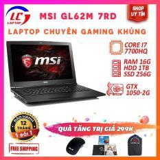 Laptop Chuyên Game + Đồ Họa Giá Rẻ MSI GL62M 7RD, i7-7700HQ, VGA GTX 1050M, Màn 15.6 FullHD, LaptopLC298