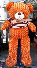 Gấu bông Teddy khổ vải 1m2 màu Cam chất Iiệu bên trong gấu 100% gòn, không độn mút, vải