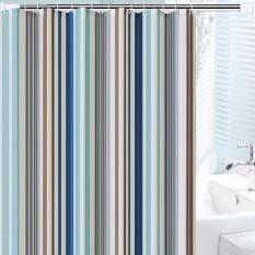 Rèm phòng tắm nhựa POLY kèm 12 móc treo 180cm x 180cm SỌC TO